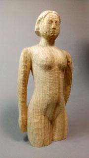 「2013-立」  木彫(くすのき)43㎝×22㎝×14㎝