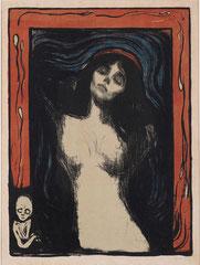60.5×44.4 cm(1895–1902年)。大原美術館所蔵の版画版。