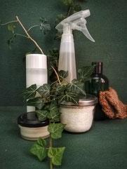 Efeu Rote Beeren Efeugrundreiniger in einer Flasche