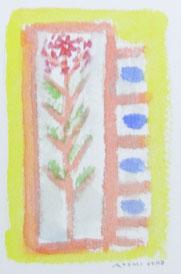 Flower of  Garden   14×9cm   Watercolor on paper   2014