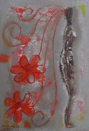 Image of Flower  21×15cm  Oil on paper