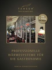 Heizstrahler Produkte für die Gastronomie Terrasse