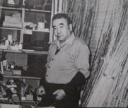 Hiroshi Sakurai (Edogawa II, 1910~1995) at our atelier in 1960s.