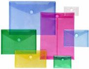 Sobres de colores de poli propileno con cierre de velcro - AorganiZarte