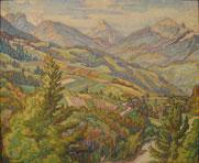 Paysage des Alpes 1928 50x61 huile sur toile André Aaron Blils