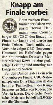Cronenberger Woche Bericht vom 06.05.2005 ERLT