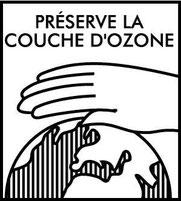 """Logo """"preserve la couche d'ozone""""."""