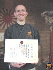 Philippe - 4e dan diplome japonais