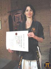Sylvie - 1er dan diplome japonais