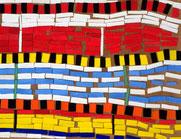 Ellen Roß: Il grande fiume n°3, 2011, Vinyl auf Holz auf MDF-Platte, 70 x 100 cm