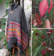 Handgewebte Schultertücher aus Wolle, jedes ein Unikat