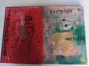 """""""Kosmologie"""",                                                                26 Seiten, 30 x 40 cm, 2018"""