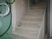installation led escalier dans cloison placo