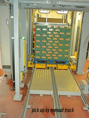 Hig infeed palletiser/low out feed