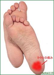 踵の痛み土踏まずの痛みの原因は足底筋膜炎