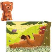 Silhouette Au dodo! l'ourson - Djeco