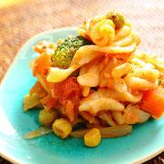 アスパラとロティーニのツナトマトクリーム