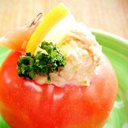 まるごとトマトとツナのサラダ