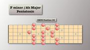 3nps F Minor Pentatonic - Box 3