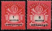 adopengö-Dauermarken vom 16.7.49 bis 26.7.19, Hyperinflation
