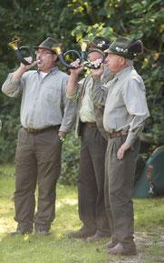 Die Jagdhornbläser der Jägervereinigung Esslingen