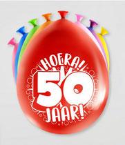 Ballonnen Hoera! 50 jaar! 8 stuks € 2,25