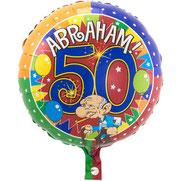 Folieballon Abraham Knalfeest €4,25