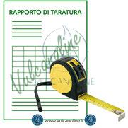 Rapporto di taratura per Flessometro