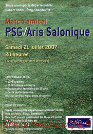 Affichette  PSG-Aris Salonique  2007-08
