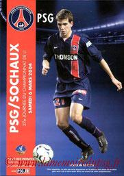 Programme  PSG-Sochaux  2003-04