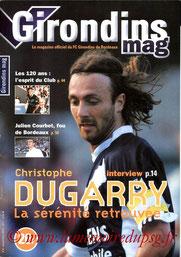 Programme  Bordeaux-PSG  2001-02