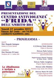 """Presentazione del Centro Antiviolenza """"Frida"""""""
