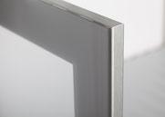 Profil: MDF-Rahmen Inox Glas: Sat. Opti. PP Silber