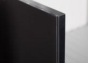 Profil: Holzplatte Schwarz Glas: Float Opti. VF Schwarz