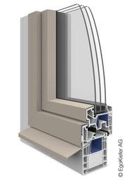 Kunststoff Aluminium-Fenster EgoAllround halbflächenversetzt