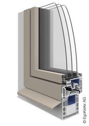 Kunststoff Aluminium-Fenster EgoAllround flächenbündig