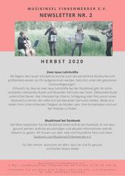 Newsletter MusikInsel Finkenwerder e.V. Herbst 2020 Seite 2