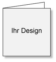 Bild Dummy Ihr Design Karte Faltblatt Quadrat