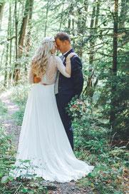 Foto Brautpaar im Wald