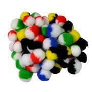 Pompoms zweifarbig, 20, 30 mm