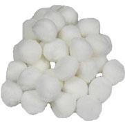 Pompoms weiß, 25 mm