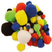 Pompoms Mix, 10-45 mm