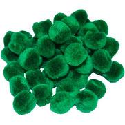 Pompoms grün, 25 mm