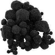 Pompoms schwarz, mix
