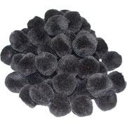 Pompoms schwarz, 25 mm