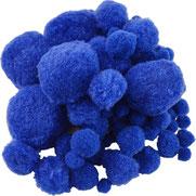 Pompoms blau, mix