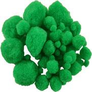 Pompoms grün, mix