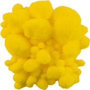Pompoms gelb, mix