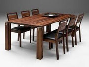 (DINING ROOM) TABLE AND CHAIRS