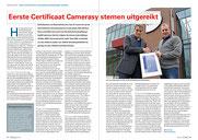 Interview camerasystemen certificaat van KIWA.